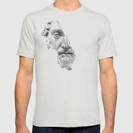 MARCUS AURELIUS ANTONINUS AUGUSTUS / black / white T-shirt
