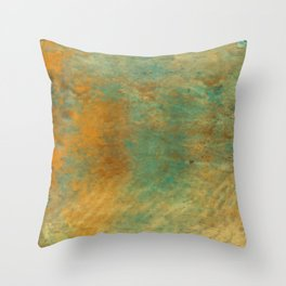 Copper and Turquoise Throw Pillow