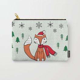 Cute little  Fox in a winter landscape Carry-All Pouch