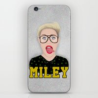 miley cyrus iPhone & iPod Skins featuring Miley Cyrus by Jessica Guetta