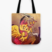 mlp Tote Bags featuring MLP: Fluttercord by Miki Draw