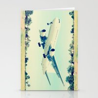 plain Stationery Cards featuring Plain / Plane by Amiee Groundwater