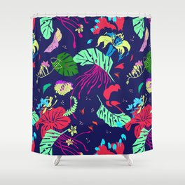 Mad Jungle Tropical Print Shower Curtain