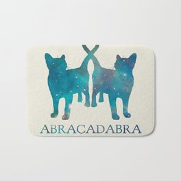 Abracadabra Twin Cats - blue Bath Mat