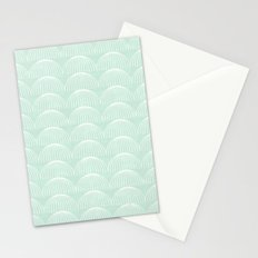 Geometric Umbrellas by Friztin Stationery Cards