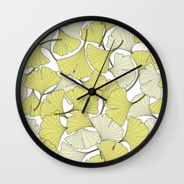 ginkgo leaves (special edition) Wall Clock