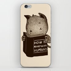 Cat Book How To Manipulate Humans iPhone & iPod Skin