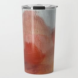 Desert Journey [2]: a textured, abstract piece in pinks, reds, and white by Alyssa Hamilton Art Travel Mug