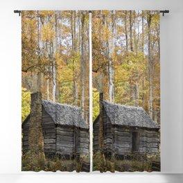 Smoky Mountain Rural Rustic Cabin Autumn View Blackout Curtain