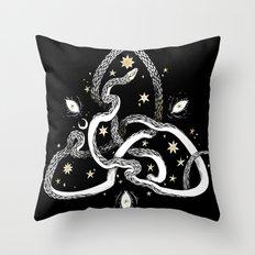Star Serpent Throw Pillow