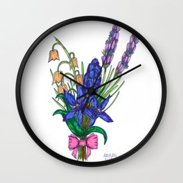 Blue Scilla and Friends Wall Clock