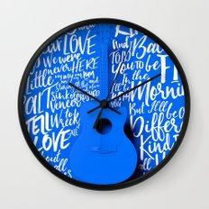 Lyrics & Type - Bon Iver - Skinny Love Wall Clock