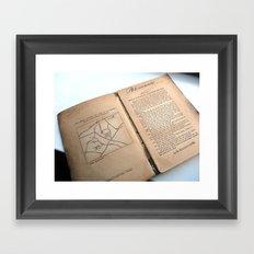 Message In A Book 5 Framed Art Print