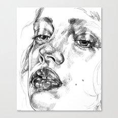Colored Pencil Portrait Canvas Print