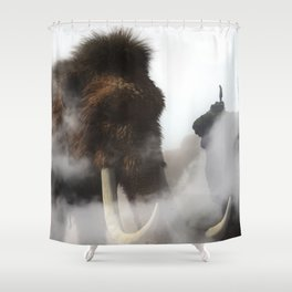 The Giant Mammoth by GEN Z Shower Curtain