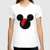 david bowie T-shirts featuring David Bowie Mouse by Ricardo Silvestre