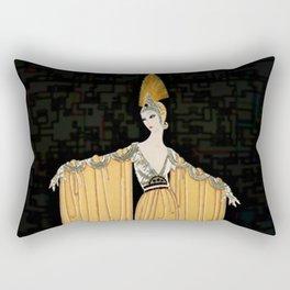 "Art Deco Illustration ""Oriental Gown"" by Erté Rectangular Pillow"