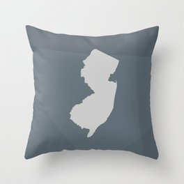New Jersey State Throw Pillow