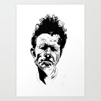 tom waits Art Prints featuring Tom Waits by Giorgia Ruggeri