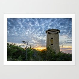 WWII Lookout Tower Art Print