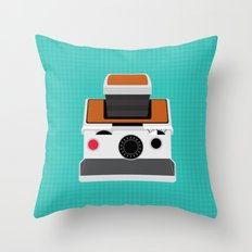 Polaroid SX-70 Land Camera Throw Pillow