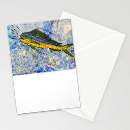 Mahi-Mahi Feeding Frenzy  Stationery Cards