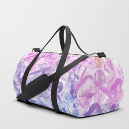 Crystal Gemstone Background Pattern - Geodes + Quartz Points Duffle Bag