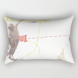 """going nowhere fast"" Rectangular Pillow"