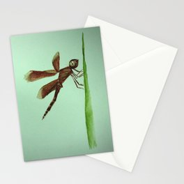 Mosquito on blade of grass Stationery Cards
