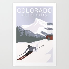Ski Colorado Art Print