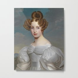 Portrait of Elise Dorothea Friederike by Ernst Thelott Metal Print