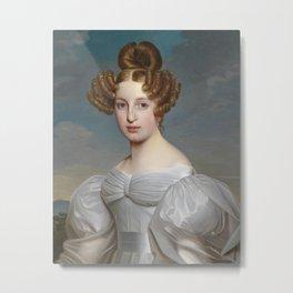 Portrait of Elise Dorothea Friederike by Ernst Thelott Metal Print