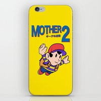 earthbound iPhone & iPod Skins featuring Mother 2 / Earthbound / Super Mario Bros. 3 Style by Studio Momo╰༼ ಠ益ಠ ༽