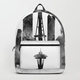 Seattle Black and White Backpack