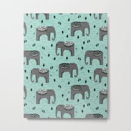 Elephant Parade by Andrea Lauren Metal Print