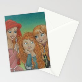 Redheaded Princesses Stationery Cards