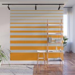 Orange digital horizons Wall Mural