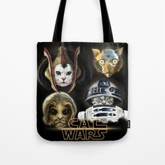 Cat Wars four Tote Bag