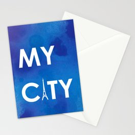MyCity-Paris-BlueA Stationery Cards