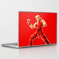 street fighter Laptop & iPad Skins featuring Street Fighter II - Ken by Carlo Spaziani