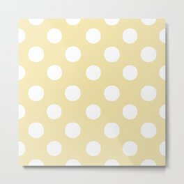 Polka Dots (White/Vanilla) Metal Print