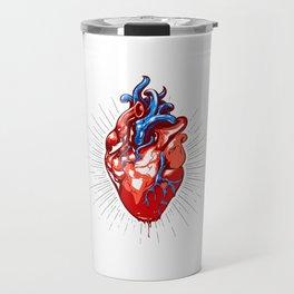 Realistic Heart Illustration Travel Mug