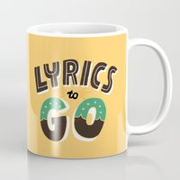lyrics Mugs featuring Lyrics to Go by Vaughn Fender