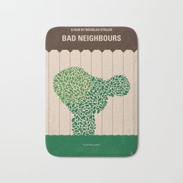 No840 My Bad Neighbours minimal movie poster Bath Mat
