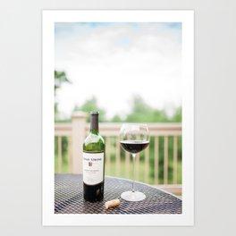 Wine on the Patio Art Print