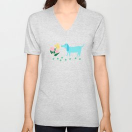 Stop and Sniff the Flowers Unisex V-Neck