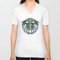 cthulhu V-neck T-shirts featuring Cthulhu by N.Kachaktano