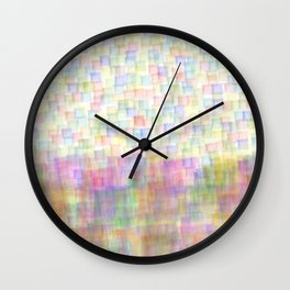 Abstract Squares #2  Wall Clock