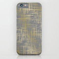 Crosshatch Grey Slim Case iPhone 6