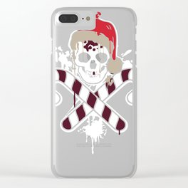 Gangster Skull and Crossbones Christmas Pirate Clear iPhone Case